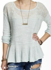 Free People | Kristobel Ruffled Sweater | size M